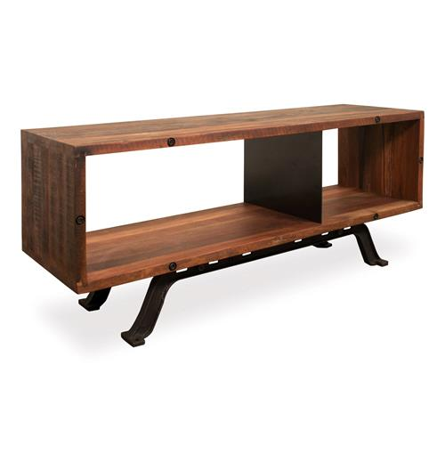 Barrow Industrial Reclaimed Wood Iron Media Console