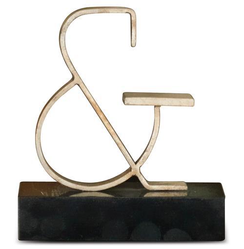 Bell Hollywood Regency Silver Ampersand Sculpture Kathy