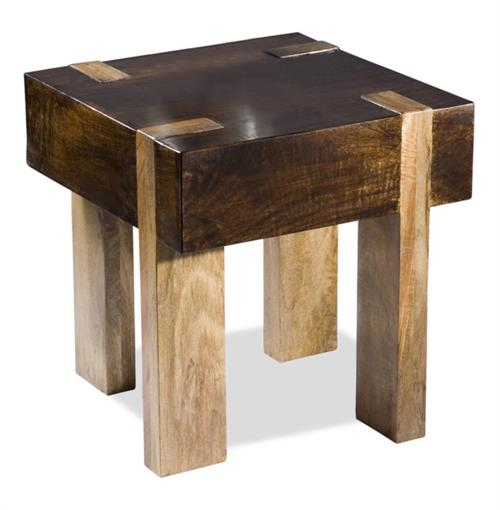 Berkeley Solid Chunky Wood Contemporary End Side Table | Kathy Kuo Home