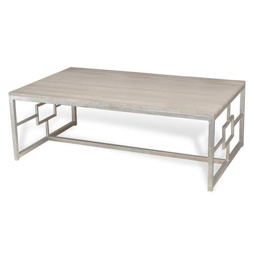 Bialik Hollywood Regency Marble Rectangular Coffee Table