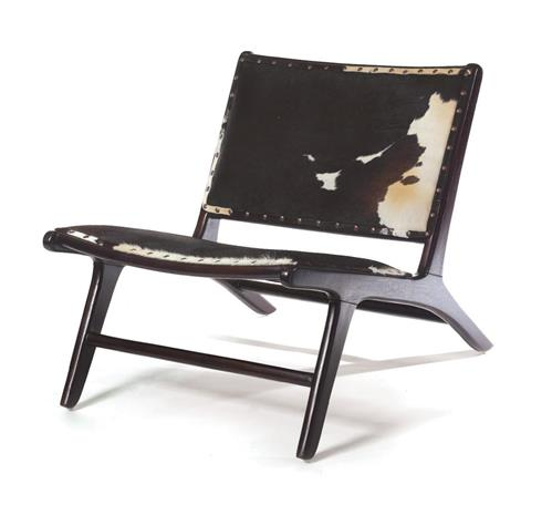 Black and White Cowhide Modern Occasional Chair