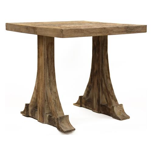Bois Rustic Country French Teak Side Accent Table  Kathy Kuo Home