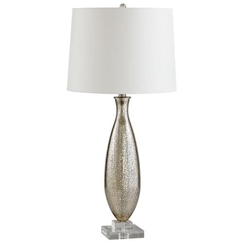 Brooklyn Antique Mercury Glass Modern Elegant Gold Crackle Table Lamp