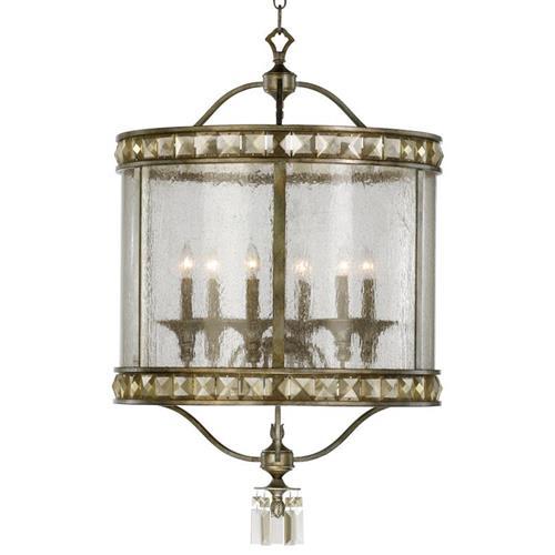 Large Round Edwardian Foyer Lantern : Buckingham victorian champagne crystal light entryway