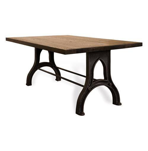 Kids Dining Table: Caleb Industrial French Oak Wood Children's Play Dining Table