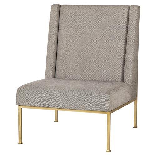 Modern Black Microsuede Chair Gold: Calhoun Regency Modern Black Speckle Gold Chair