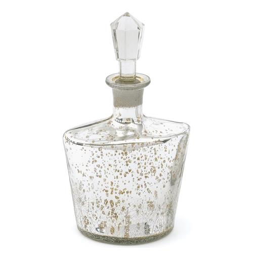 Carin Antique Etched Silver Mercury Glass Decanter | Kathy Kuo Home