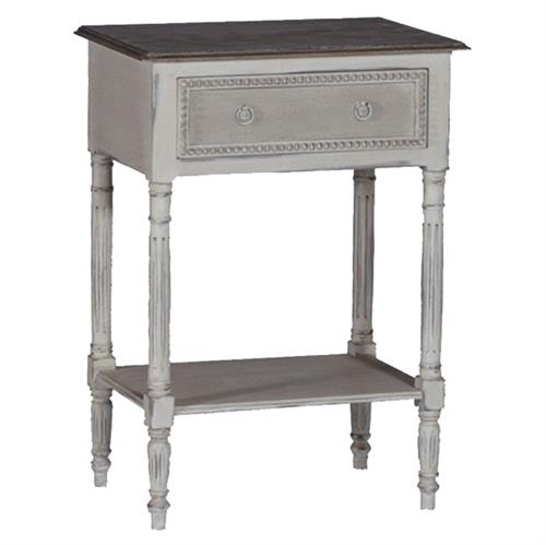 Carine Swedish Gustavian French Delicate Side Table Nightstand
