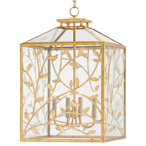 light kitchen cabinets cedarton entwined branches regency gold leaf lantern 22659