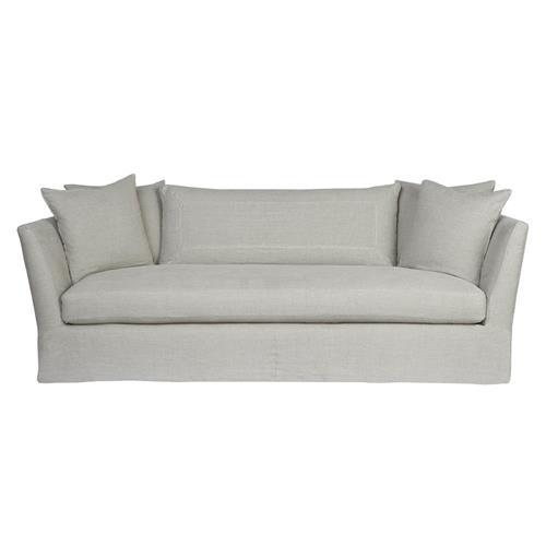 Light Grey Sofa Slipcover: Cisco Brothers Seda Light Grey Linen Coastal Style Feather
