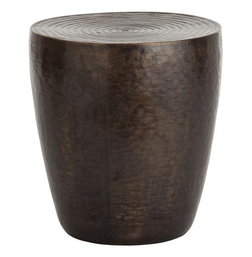 Clint Modern Safari Bronze Ring Top Iron End Table