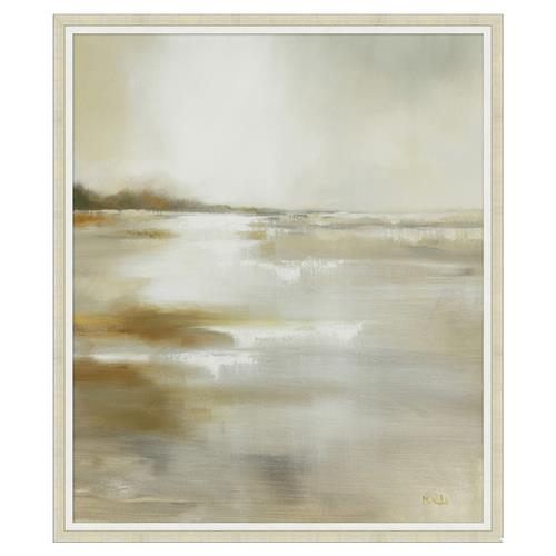 Coast Line Nuetral Sunrise Abstract Canvas Painting