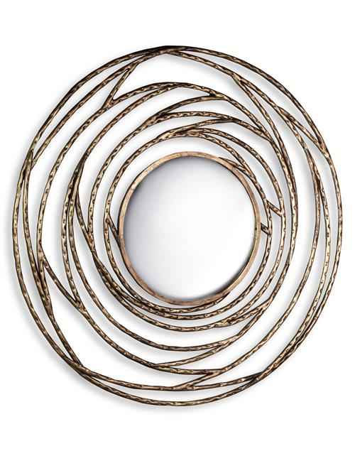 Cosmic Orbit Modern Round Swirl Mirror