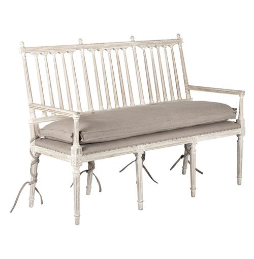 Long Dining Bench: Coyle Shabby French Antique White Long Dining Entry Bench