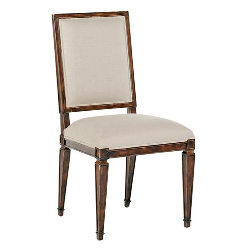 Danielle French Country Brown Square Back Dining Chair- Set of 2