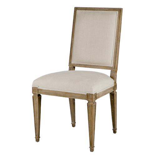 Danielle French Country Oak Square Back Dining Chair- Set of 2