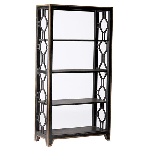 David Gilded Metal Gold Geometric Bookshelf