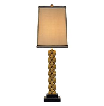 Debonair Tall Cast Brass Column Masculine Table Lamp- 30""