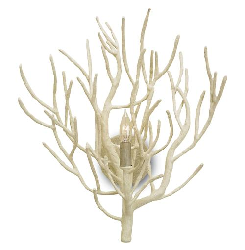 Delray White Coral Coastal Beach Style Sconce