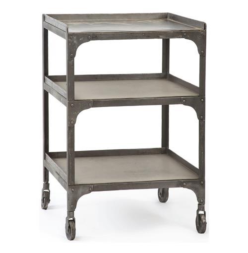 Demar industrial loft galvanized steel 30 side table - Table basse metal industriel loft ...