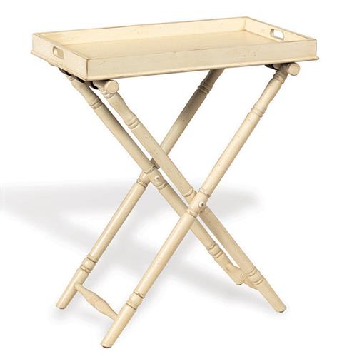 Devon Butler Beach Style Folding Tray Table Ivory Kathy