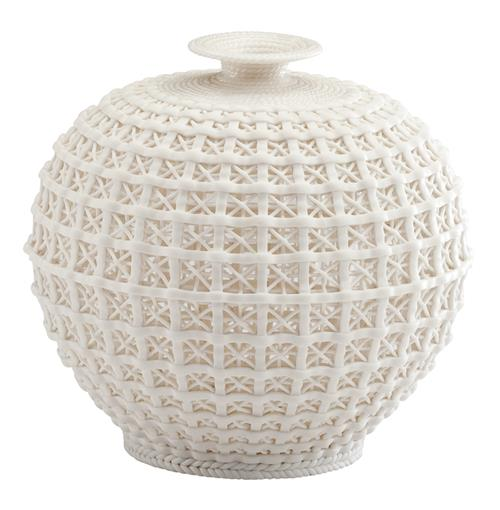 Diana Coastal Beach Ceramic Woven Knit Sweater Pattern Modern Bud Vase