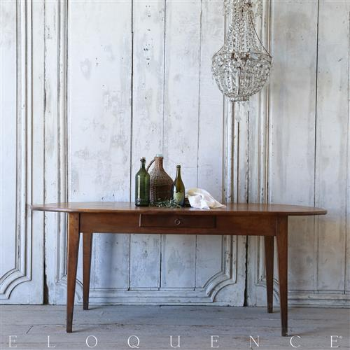 Eloquence 174 Antique French Country Stained Oak Oval Dining