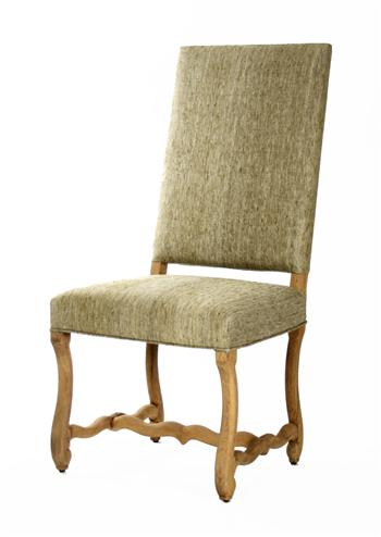 Freija French Country Gray Silk Dining Chair