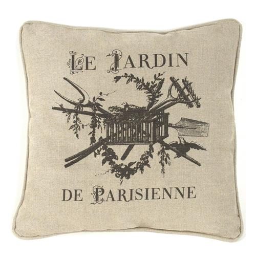 "French Country ""Le Jardin de Parisienne"" Square Toss Pillow"
