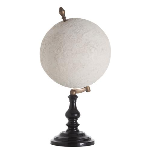 Gaia Plaster Brass Wood Traditional Globe Sculpture Decor