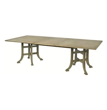 Garrett English Farmhouse Double Pedestal Leaf Rectangle Dining Table