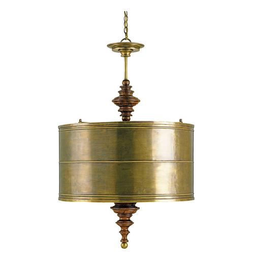 Global Brass Shade Four Light Pendant