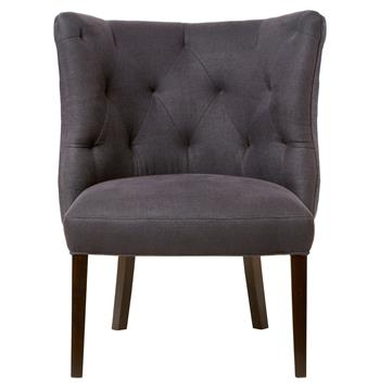 Goodman Hollywood Regency Feather Down Indigo Accent Chair