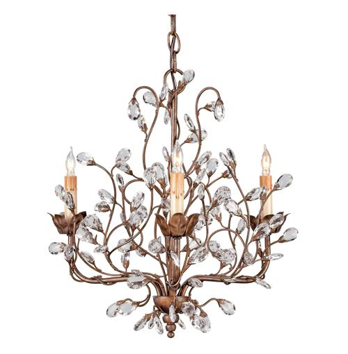 Graceful Crystal Bud 8 Light Chandelier- Small