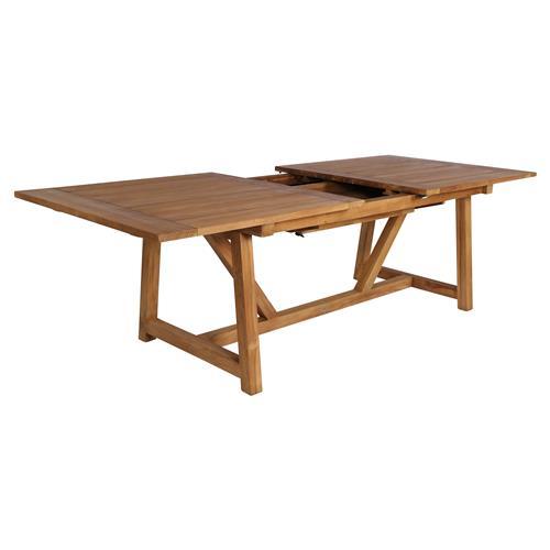 Teak Extendable Coffee Table: Greg Rustic Lodge Reclaimed Teak Outdoor Dining Table