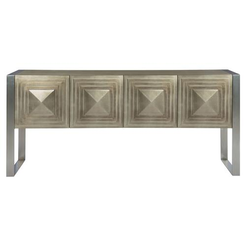 Gwyneth hollywood regency tempered glass top taupe for Sideboard taupe