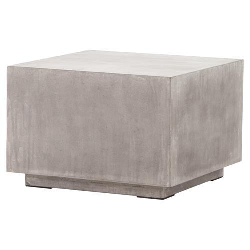 Hanz Industrial Loft Grey Block Concrete Cube Coffee Table