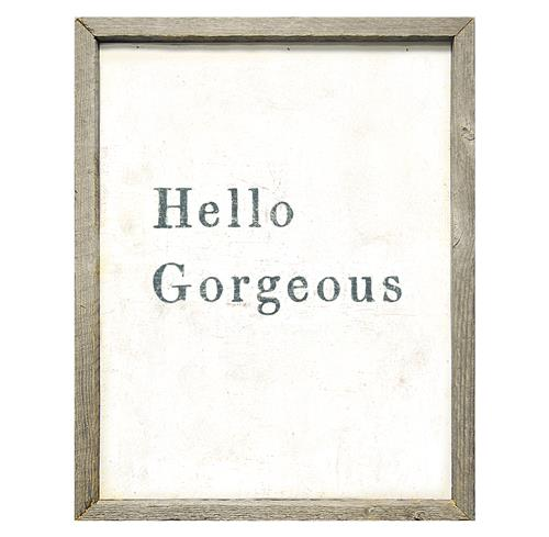 Hello Gorgeous' Simplicity Vintage Reclaimed Wood Wall Art