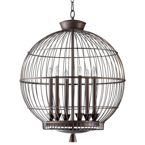 Hendricks Globe Oil Rubbed Bronze 6 Light Chandelier