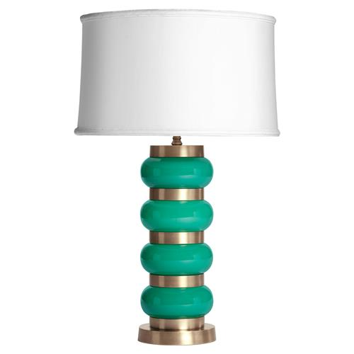 Hollywood Regency Green Gold  'Luck Be a Lady Lamp' | Kathy Kuo Home