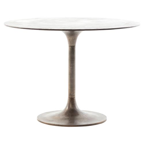 Imber Industrial Loft Antique Rustic Metal Tulip Table