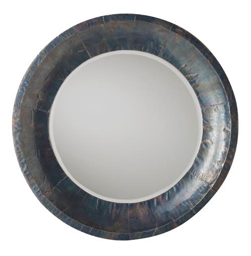 Industrial Modern Oxidized Iron Wood Large Mirror