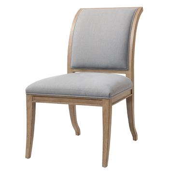 Isabelle Pavilion Regency Light Gray Blue Dining Side Chairs