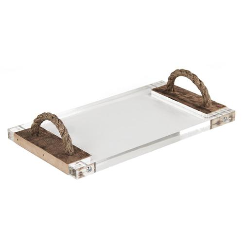 Jackson Reclaimed Wood Modern Rustic Acrylic Serving Board Tray