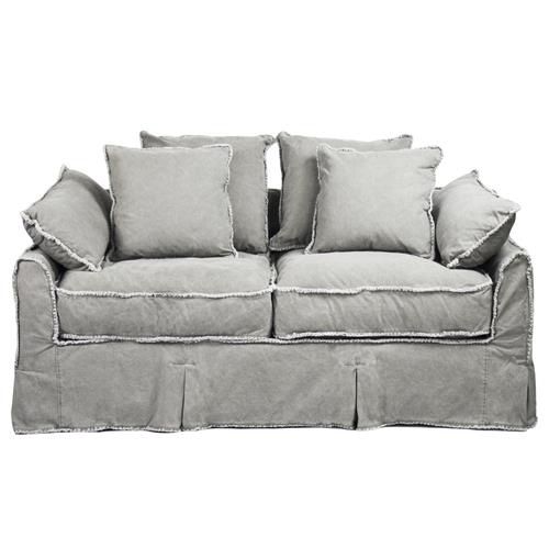 Kelvin Stonewash Canvas Fog Cottage Style 2.5 Seat Loveseat