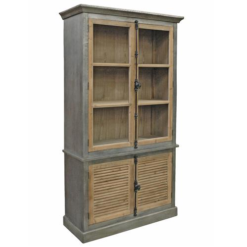 Klein Industrial Loft Natural Pine Zinc Wrapped Closed
