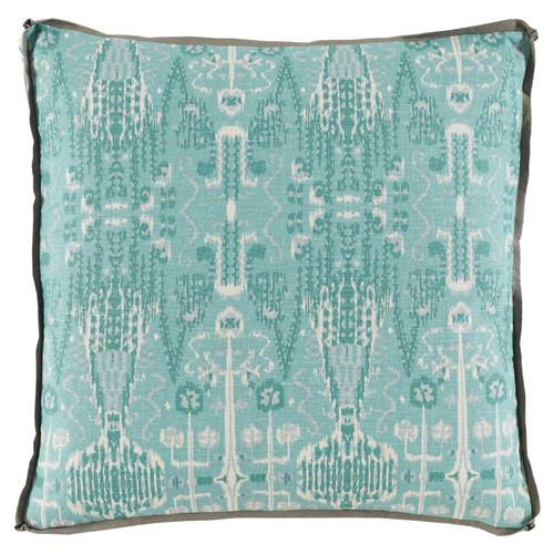 how to antique kitchen cabinets kolkata global bazaar aqua ikat pillow 24x24 kathy kuo 16778