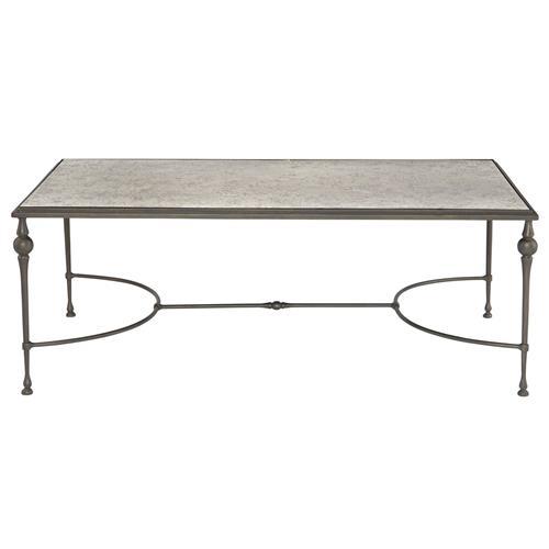 Industrial Coffee Table London: Lala Industrial Regency Antique Silver Mirror Coffee Table