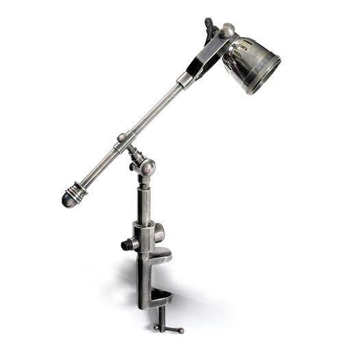 Leighton Architectural Drafting Industrial Steel Clamp Desk Lamp