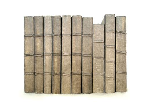 Linear Foot Vintage Hand Made Taupe Decorative Books